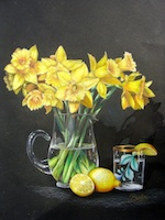 Daffodils, Glass and Lemons