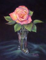 Delicates - Rose & Crystal Vase